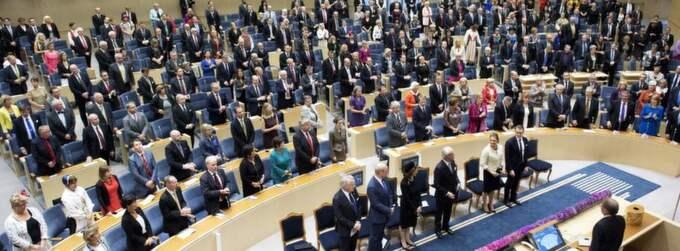 DE SKULLE KARTLÄGGAS. Sverigedemokraterna krävde en hemlig kartläggning av vilka riksdagsledamöter som har dubbla medborgarskap. Foto: OLLE SPORRONG Foto: Olle Sporrong