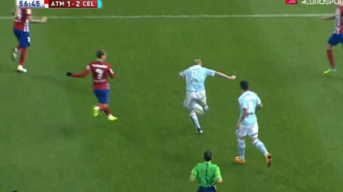 PANG - Guidetti slår till. Foto: Eurosport