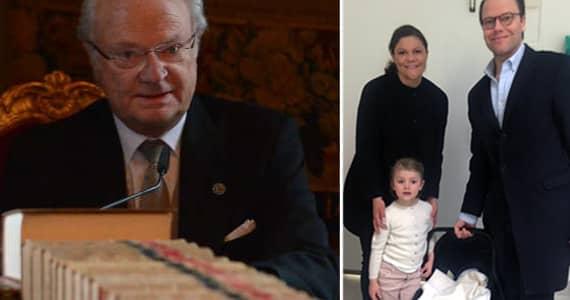 Oscar Carl Olof ska Victoria och Daniels nyfödde son heta. Det avslöjade kungen under torsdagens konselj.