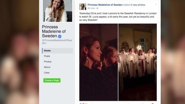 Prinsessan Madeleine och Leonore firade lucia i London