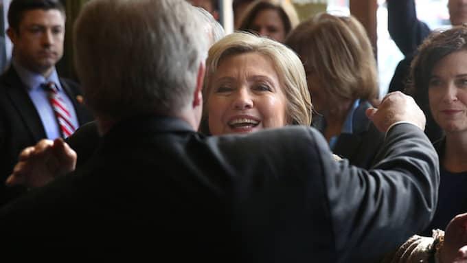 Hillary Clinton gick med gott självförtroende in i nattens valdrama i USA. Foto: Jim Gehrz