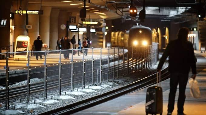 På Kastrup kommer resenärerna kontrolleras genom slussar. Foto: Dresling Jens