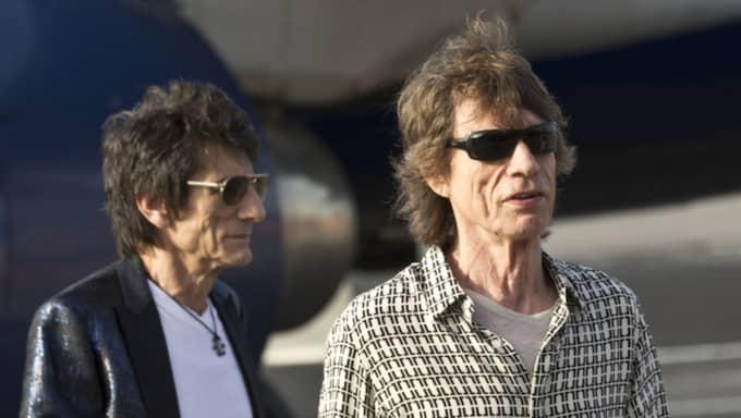 Ron Wood och Mick Jagger Foto: Ramon Espinosa / AP