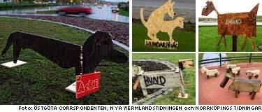 Rondellhundarna finns i Linköping, Karlstad och Motala. Har du sett fler?