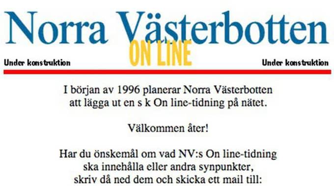 Så här såg Norran ut 1996...
