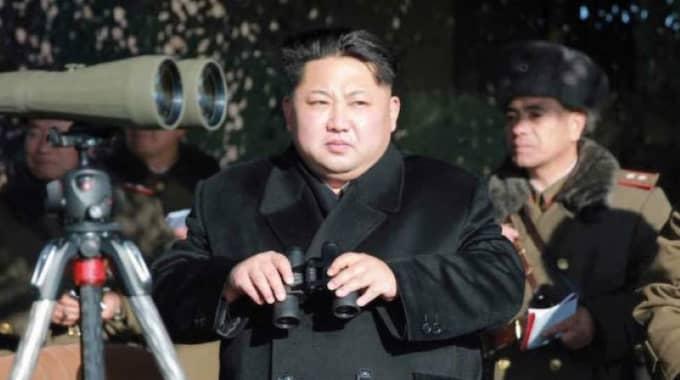 Nordkoreas president Kim Jong-Un. Foto: Rodong Sinmun / Handout / Epa / Tt