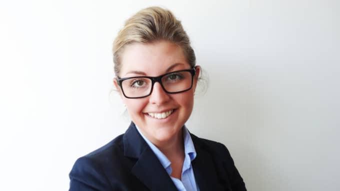 """Caroline Larsson driver Hotel Amalias hus, som fått en lyxutmärkelse av ett ansett resemagasin: """"Vi firade med champagne."""" Foto: Privat"""