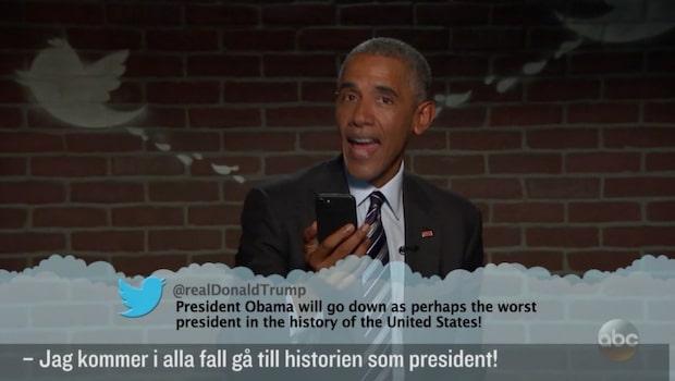 Barack Obamas svar på Trumps twitterhån