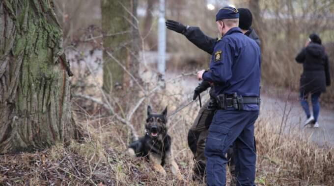 Flera 14-åriga gärningsmän jagas nu av polis. Foto: Janne Åkesson/Swepix