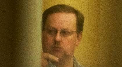 Anders Eklund under rättegången. Foto: Suvad Mrkonjic
