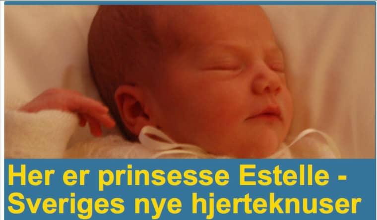 Norska Dagbladet.no skriver: Här är prinsessan Estelle - Sveriges nya hjärtekrossare.