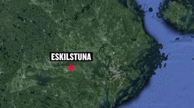 Kvinnan ska ha våldtagits i centrala Eskilstuna. Foto: Google Earth/Expressen