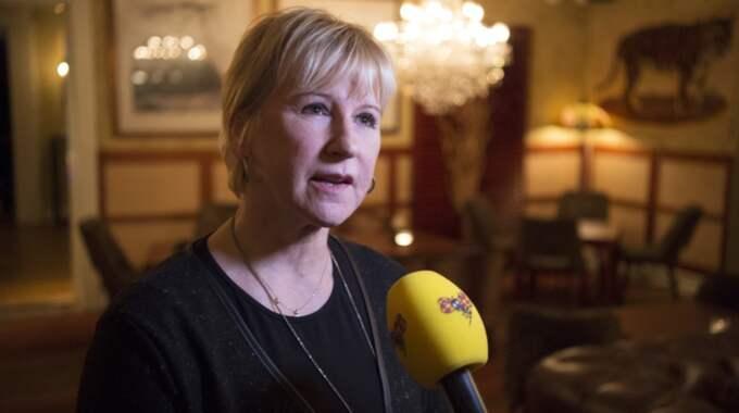 Margot Wallström instämmer i kritiken mot brotten. Foto: Sven Lindwall