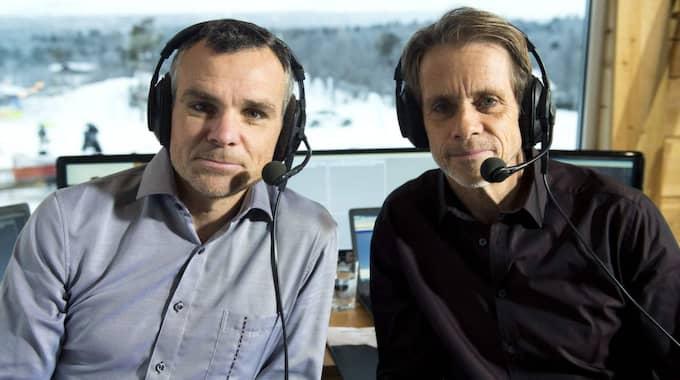 SVT-experten Anders Blomquist med parhästen Jacob Hård. Foto: Carl Sandin