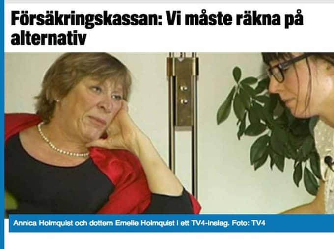 Emelie Holmquist tillsammans med sin mamma Annica Holmquist. Foto: Faksimil/TV4