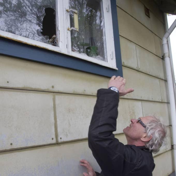I maj 2010 utsattes Lars Vilks hus för ett brandattentat. Foto: Joachim Wall