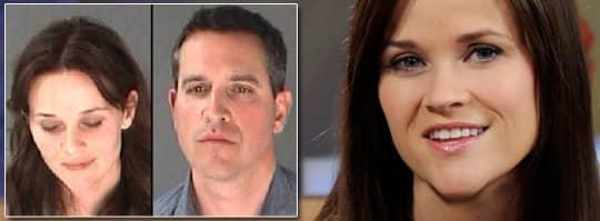 Reese Witherspoon tjafsade med polisen när hon och maken Jim Toth stoppades misstänkta för rattfylleri.. Foto: AP