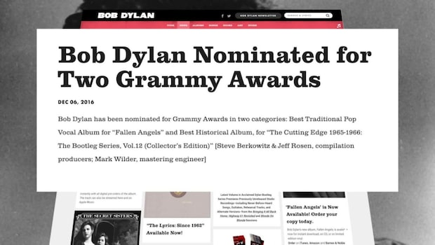 Bob Dylans nya diss mot Svenska Akademien