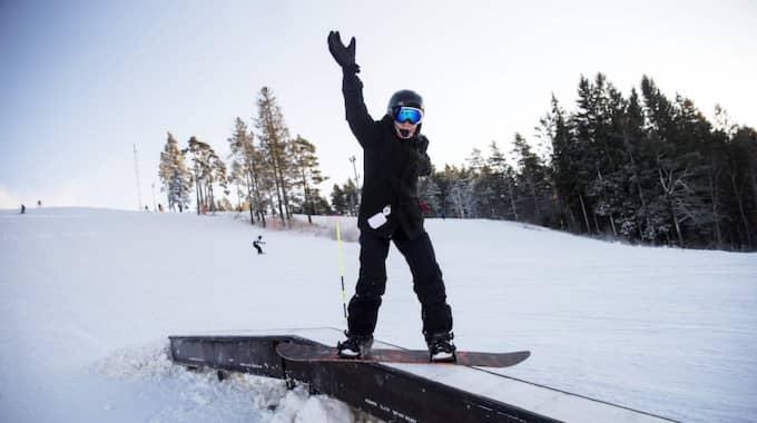 14-åriga Victor Pilgren planerar en heldag på Alebacken. Foto: Anders Ylander