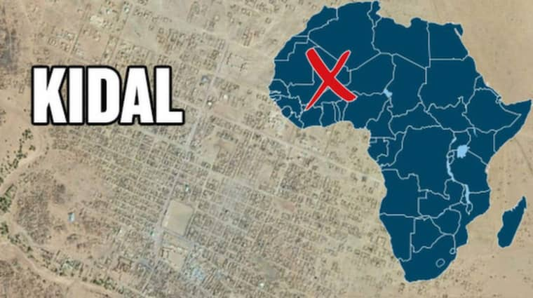 Attacken skedde i Kidal i Mali. Minst två personer är döda.