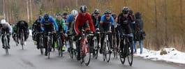 Snökaoset stoppade stor cykeltävling