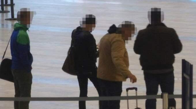 När den misstänkta kartellen fångades på bild i december var de på väg till Brasilien från Landvetter. Mindre än en månad senare greps en annan av ligans medlemmar med 14 kilo kokain på sig på Beiruts flygplats i Libanon. Foto: Polisen