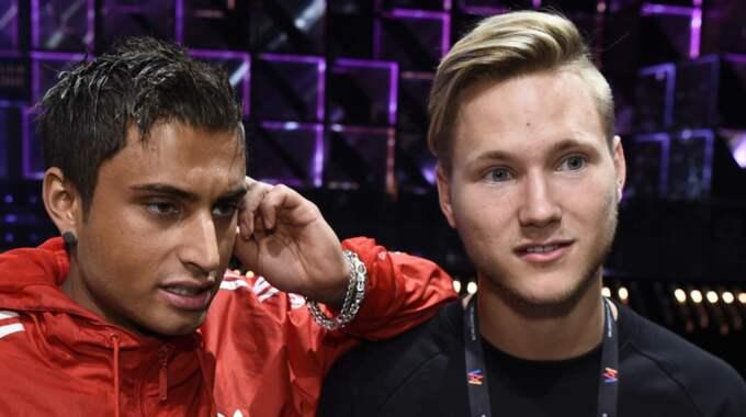 Samir Badran och Viktor Frisk har inte hunnit repetera ordentligt. Foto: Sven Lindwall