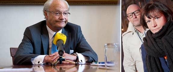 """Författarna till """"Den motvillige monarken"""" är övertygade om att kungen ljög under sin intervju. Foto: Scanpix och Mikael Wallerstedt"""