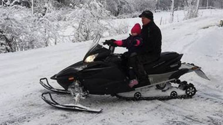 Vanligtvis brukar Thomas Tuvesson ta den till Sunne i Värmland eller hem till Boden om vintrarna för att köra. Foto: Privat