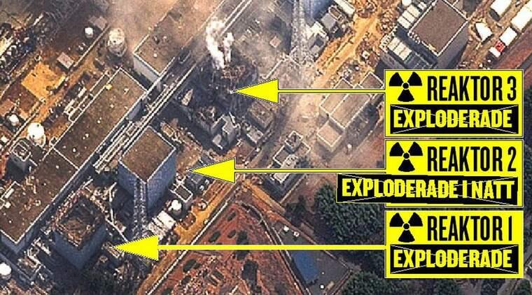 YTTERLIGARE EN EXPLOSION. Sent i natt skedde en explosion även i en tredje reaktor på kärnkraftverket Fukushima. Samtidigt kom uppgifter från japanska regeringen om risk för betydligt högre strålning än tidigare befarat. Foto: All over press