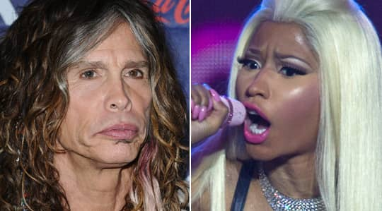 Steven Tyler och Nicki Minaj. Foto: BULLS/AP