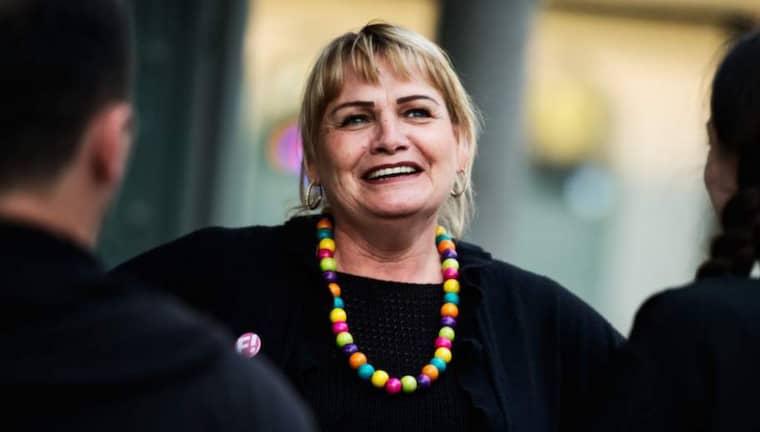 VILL UT I EUROPA. Feministiskt initiativs Soraya Post hoppas på en plats i Europaparlamentet. Foto: ROBIN ARON Foto: Robin Aron