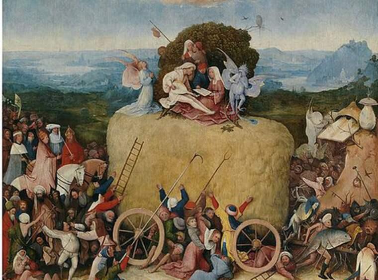 """LIVETS VAL. Triptyken """"Höskrindan"""" (ca 1500) visar några av de val också dagens människor måste underkasta sig på livets väg. Bilden är beskuren."""