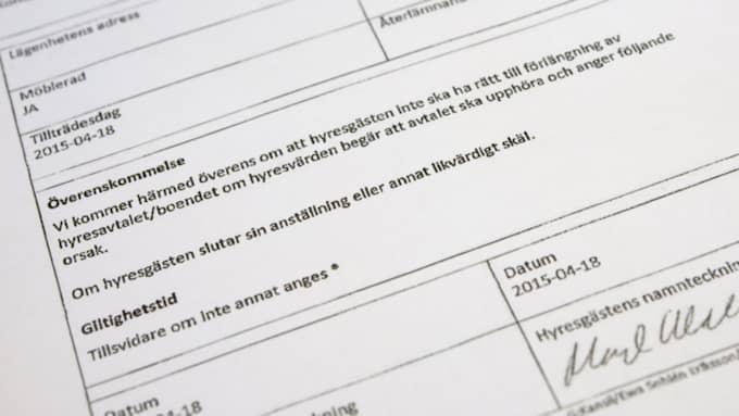 För lägenheten i centrala Stockholm på 89 kvadratmeter betalar Wallström endast 32 kronor per månad. Foto: Henrik Montgomery / Tt