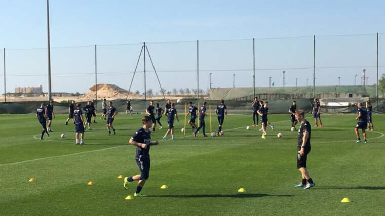 IFK Göteborg tränar i Dubai. Foto: Markus Wulcan