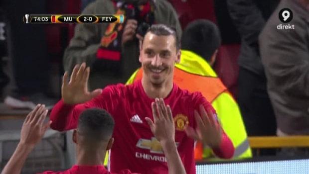 """Assist av Zlatan när United vann: """"Väldigt vackert"""""""