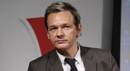 Julian Assange, grundare för den kontroversiella sajten Wikileaks. Foto: Bertil Ericson / Scanpix