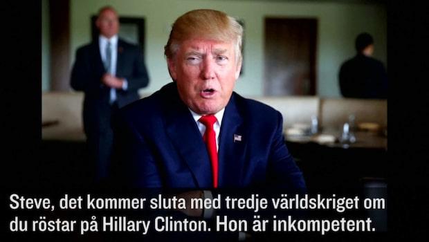 """Trumps nya utspel: """"Kommer leda till tredje världskriget"""""""