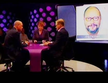 HÆR PRESSAS REINFELDT. Fredrik Reinfeldt frågades ut i SVT om fallet med den deltidssjukskrivne överläkaren Jörg Teichert som nu ska ställa upp på en presskonferens med Socialdemokraterna.