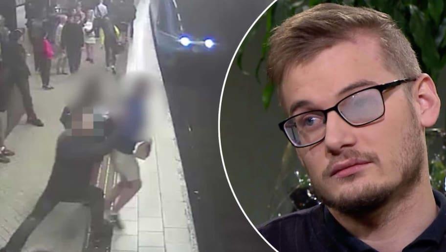 Lucas, 24, knuffades framför tunnelbanan