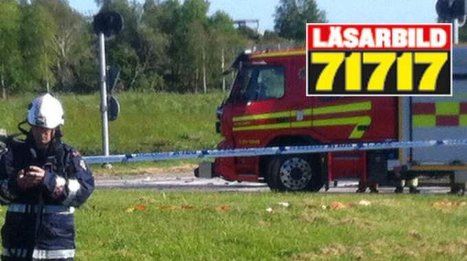 Flera personer har avlidit i en allvarlig trafikolycka i Torslanda. Foto: Läsarbild