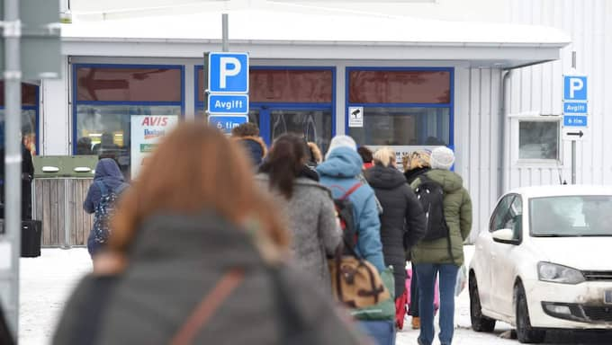 Bagagehallen och ankomsthallen på Skavsta flygplats utanför Nyköping evakuerades på söndagen. Foto: Pontus Stenberg