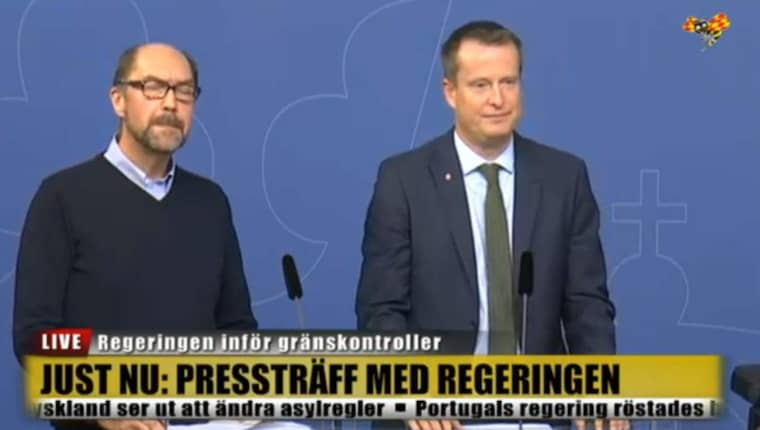 Mikael Hvinlund från Migrationsverket och inrikesminister Anders Ygeman.