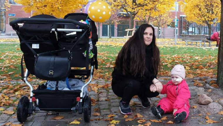 Linda Sandgren tillsammans med dottern Kellie. Foto: Privat
