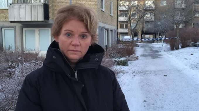 Anne Kuylenstierna Arnström, kommunikationschef på Svenska bostäder som äger fastigheten. Foto: Mimmi Nilsson