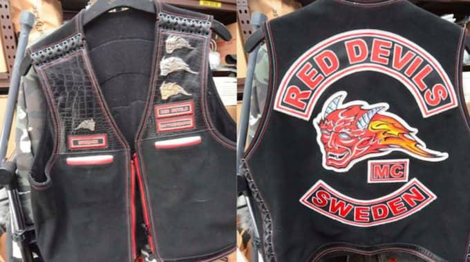 Red Devilc MC är Hells Angels officiella supportergrupp. Foto: Polisen