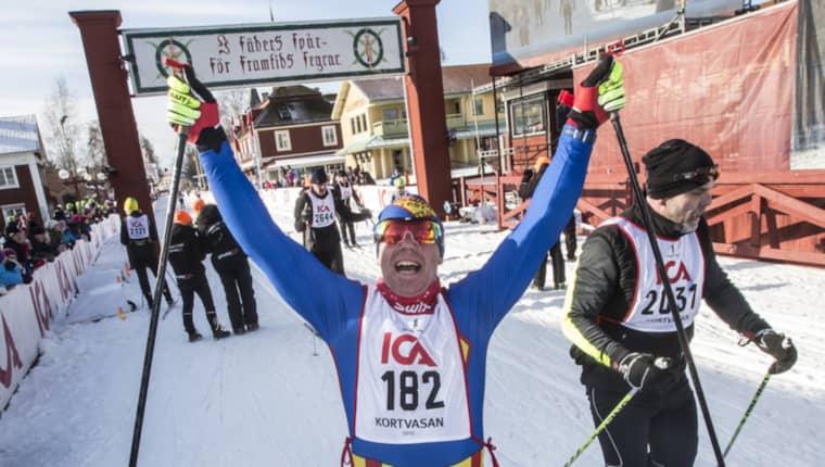 Första gången Mikael Kulanko åkte alla lopp var 2012. Då hade han inspirerats av Carina Hammarstrand. Foto: Henrik Hansson