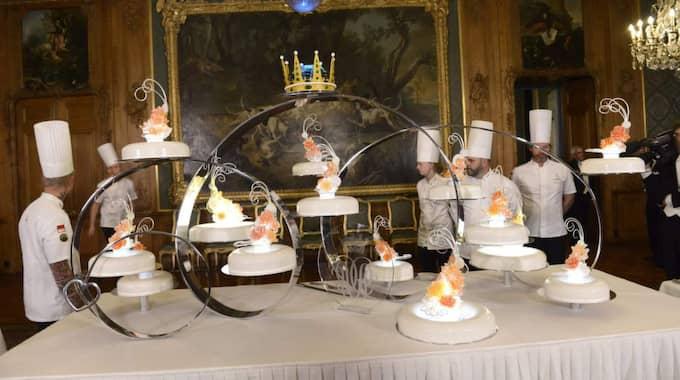 Tårtan hade en överraskande ingrediens, som prinsen valt. Foto: Jonas Ekstromer