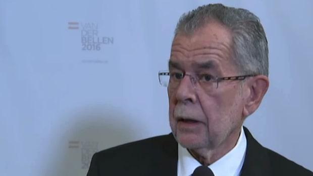 Alexander Van der Bellen är Österrikes nya president