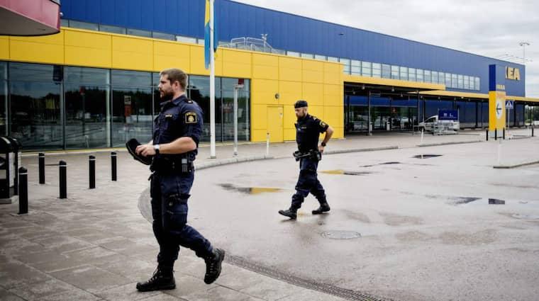 Dagen efter de två misstänkta morden på Ikea. Foto: Meli Petersson Ellafi